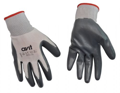Avit Nitrile Coated Gloves L